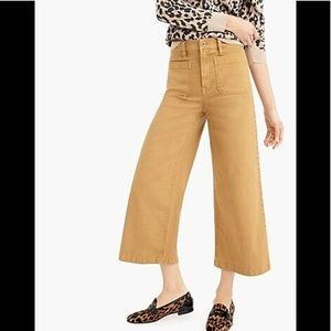 J. Crew Point Sur washed Wide Leg crop Pant 27 NWT